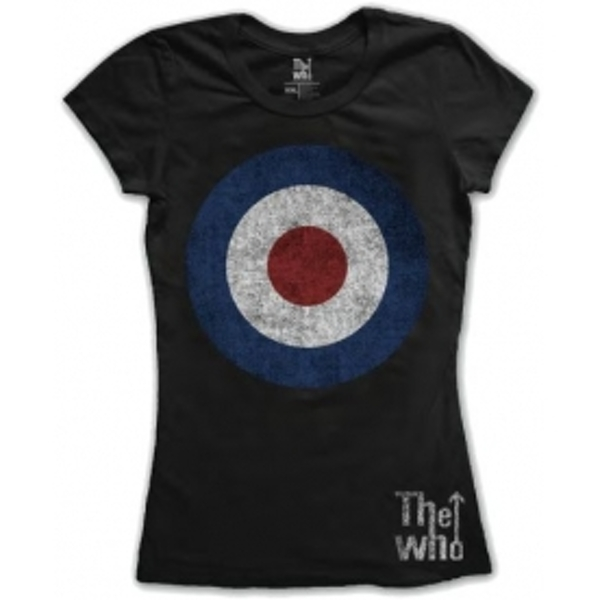 The Who Target Distressed Black Ladies TShirt Size: Large