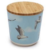 Seagull Bamboo Composite Small Round Storage Jar