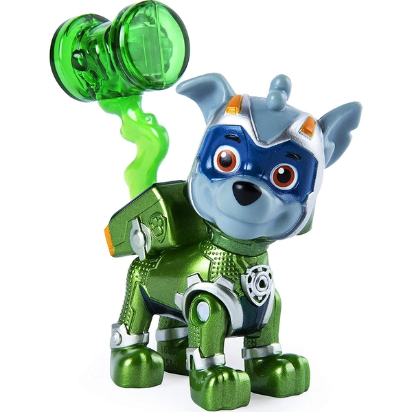 Paw Patrol Mighty Pups Super Paws Figure - Rocky