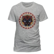 Black Panther Movie - Logo In Circle Men's Medium T-Shirt - Grey