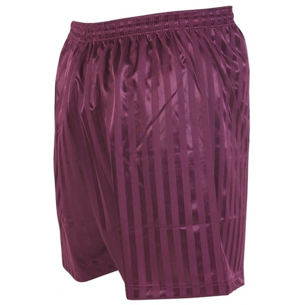 Precision Striped Continental Football Shorts 22-24 inch Maroon