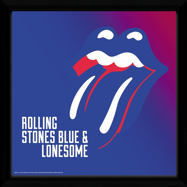 The Rolling Stones Blue And Lonesome Framed Album Print