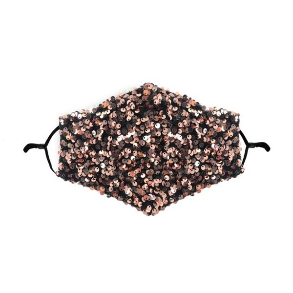 Bronze Sequin Printed Face Mask