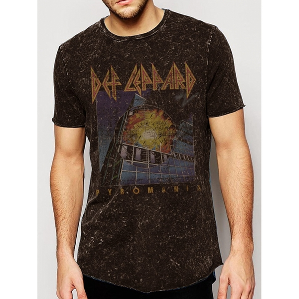 72968a3dfb54bd Hey! Stay with us... Def Leppard - Vintage Pyromania Premium Acid Wash  Men s X-Large T-Shirt -