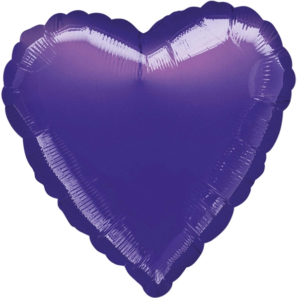 Purple Foil Balloon Heart Decoration