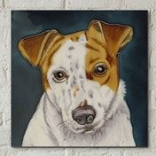 Jack Russell Wall Tile By C Varley