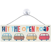 Hit The Open Road Window Sign