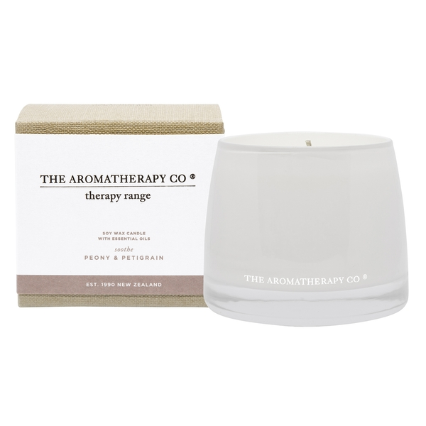 260g Soothe Therapy Candle Petitgrain & Peony