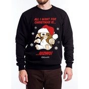 Gremlins - All I Want Is Gizmo Men's Small Crewneck Sweatshirt - Black