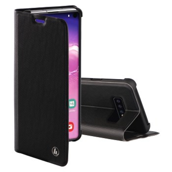 Hama Slim Pro Wallet Case for Samsung Galaxy S10, Black