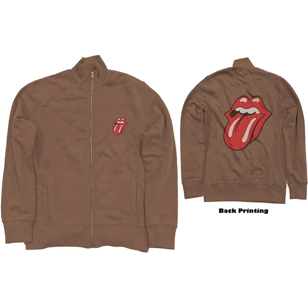 The Rolling Stones - Classic Tongue Unisex X-Large Track Top - Brown