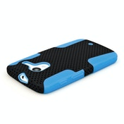 YouSave Accessories Motorola Moto X Mesh Combo Case - Blue-Black