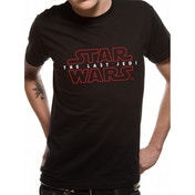 Star Wars 8 The Last Jedi - Logo Men's Large T-Shirt - Black