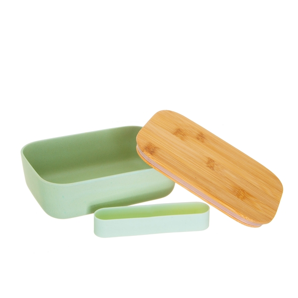 Sass & Belle Mint Green Bamboo Lunch Box - Image 1