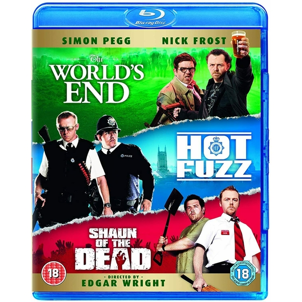 The Three Flavours Cornetto Trilogy - World's End / Shaun Of The Dead / Hot Fuzz Box Set Blu-ray