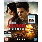 Jack Reacher: Never Go Back 4K UHD + Blu-ray + Digital HD