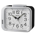 Seiko QHK049S Bell Alarm Clock Black with White Dial
