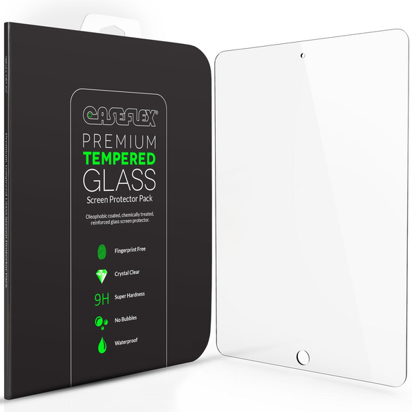 Caseflex iPad Air and Air 2 Tempered Glass Screen Protector - Clear