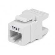 180 Cat 6 Keystone Jack - RJ45 Ethernet Cat6 Wall Jack White - 110 Type