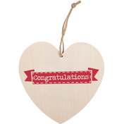 Congratulations Hanging Heart Sign