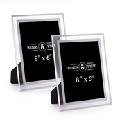 "Glass Photo Frames - Set of 2 | M&W 6"" x 8"""