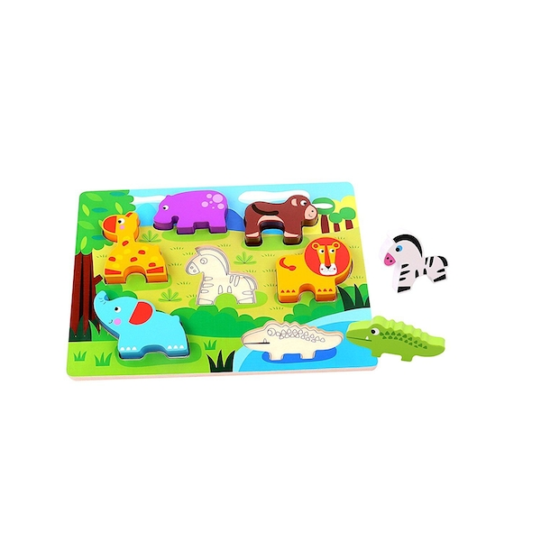 Wooden Animal Chunky Puzzle