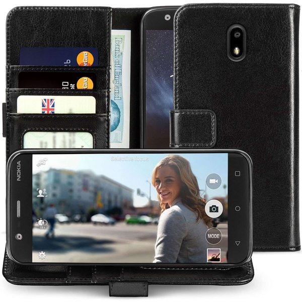 Nokia 3 Real Leather ID Wallet - Black
