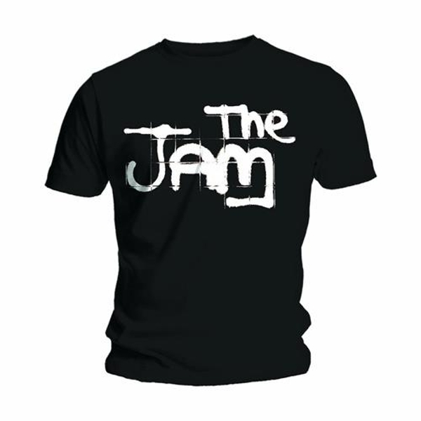 The Jam - Spray Logo Black Unisex XX-Large T-Shirt - Black