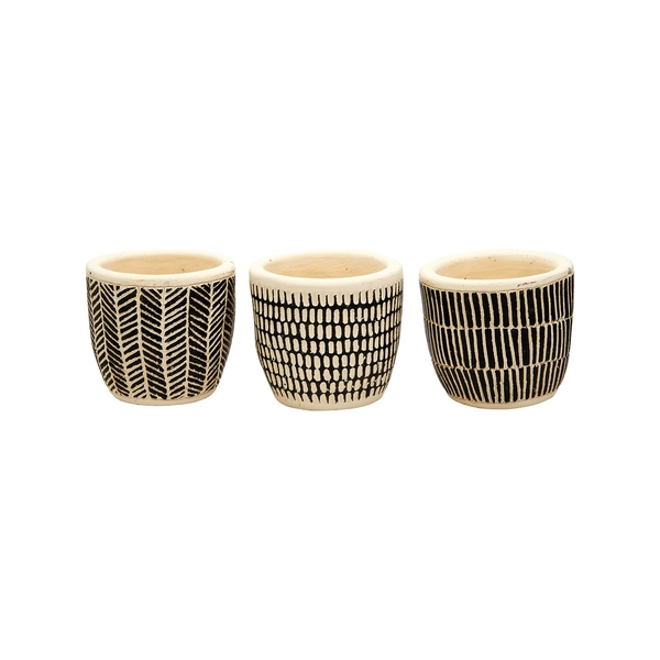 Sass & Belle Scandi Boho Mini Cement (Set of 3) Planters [Damaged Packaging]