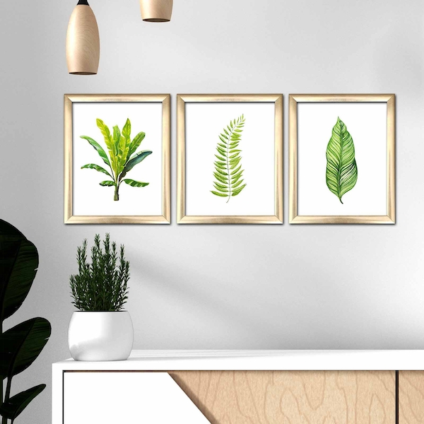 3ACT-005 Multicolor Decorative Framed MDF Painting (3 Pieces)
