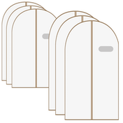 6 Pack Breathable Clothes Covers | M&W