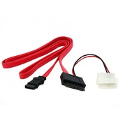 StarTech 0.9m Slimline SATA Female to SATA with LP4 Power Cable Adaptor