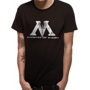 Harry Potter - Ministry Magic Men's Medium T-Shirt - Black