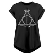 Harry Potter - Deathly Hallows Women's Medium T-Shirt - Black