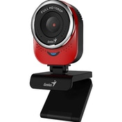 Genius QCam 6000 1080P Full HD with 360 Degree Rotation WebCam Red