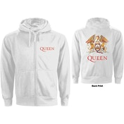 Queen - Classic Crest Ladies Small Hoodie - White
