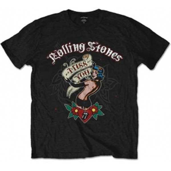 Rolling Stones Miss You Black Mens T Shirt: Small