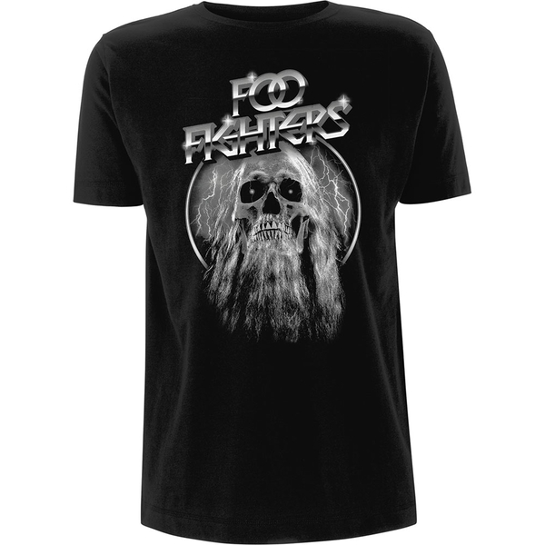 Foo Fighters - Bearded Skull Unisex Large T-Shirt - Black