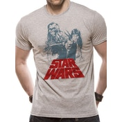 Star Wars - Solo Chewie Duet Retro Men's Large T-Shirt - White