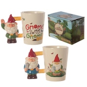 Garden Gnome Shaped Handle Mug (1 Random Supplied)