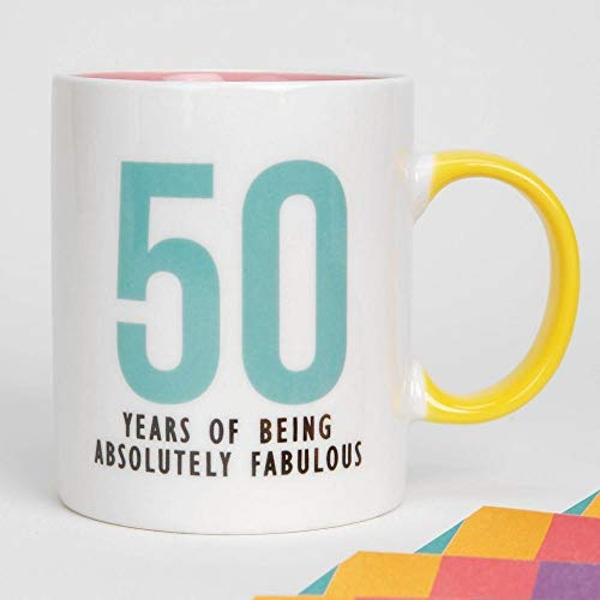 Oh Happy Day! Fine Bone China Mug - 50 Fabulous