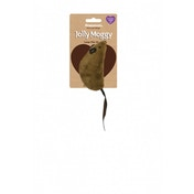 Rosewood Jolly Moggy Catnip Large Brown Mouse