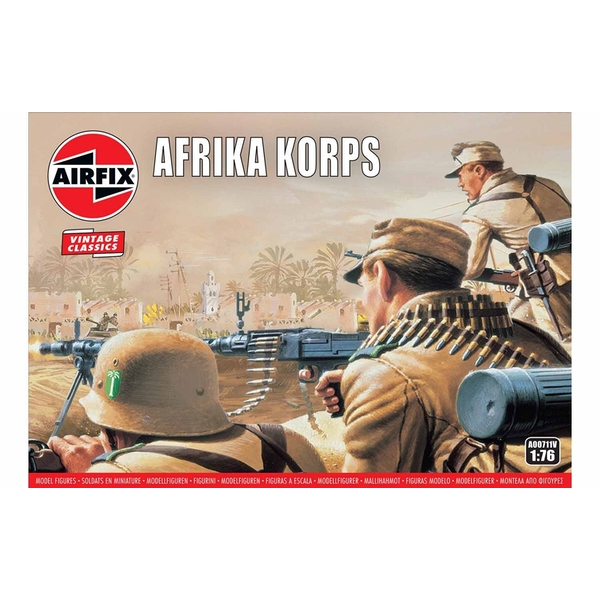WWII Afrika Corps 1:76 Air Fix Figures