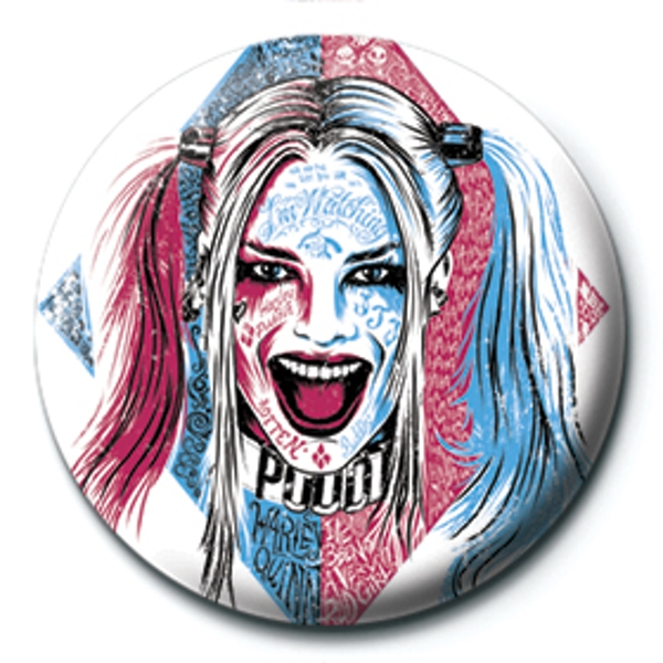 Suicide Squad - Harley Quinn Tattoo Badge