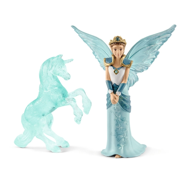 SCHLEICH Bayala Movie Eyela with Unicorn Ice Sculpture Toy Figure Set