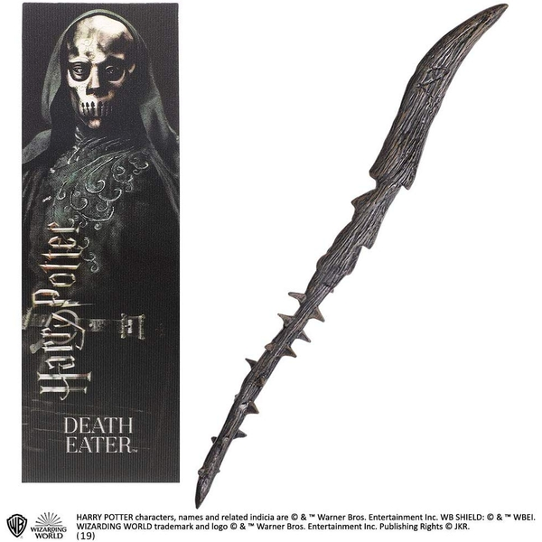 Death Eater Thorn PVC Wand and Prismatic Bookmark by The Noble Collection