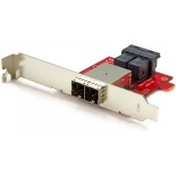 StarTech Mini-SAS Adapter Dual SFF-8643 to SFF-8644 with Full and Low-Profile Brackets - 12Gbps