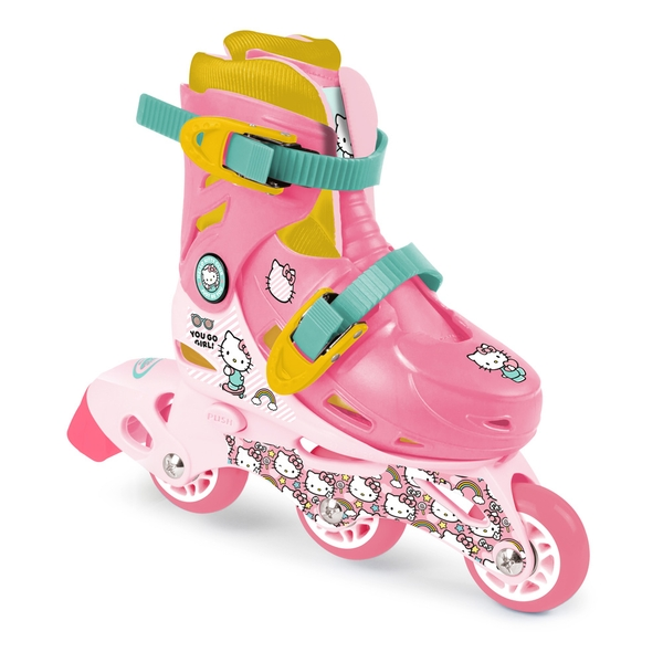Hello Kitty - Club Children's Tri-to-Inline Skates, Size 9 to 11.5 UK, Girl, Ages Three Years and Above, Pink/White (OHKY084-2)