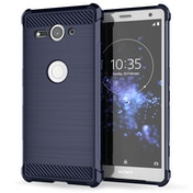 Sony Xperia XZ2 Compact Carbon Anti Fall TPU Case - Blue