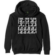 The Beatles - Hard Days Night Faces Mono Unisex Large Pullover Hoodie - Black